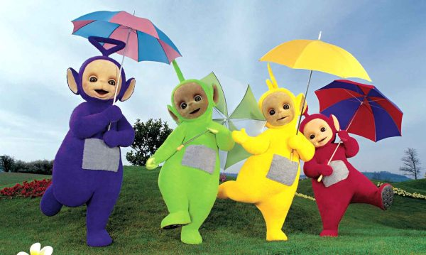 Revolutionaries? Teletubbies (from left) Twinky Winky, Dipsy, Laa Laa and Po.